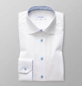 Eton Paisley trim blue button white