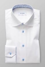 Eton Slim fit Poplin with paisley trim
