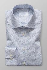 Eton Twill Blue paisley shirt