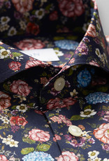 Eton Pink/Blue Floral Print on Signature Twill