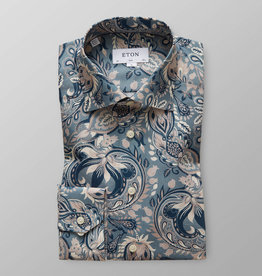 Eton Floral Motif on luxury Twill