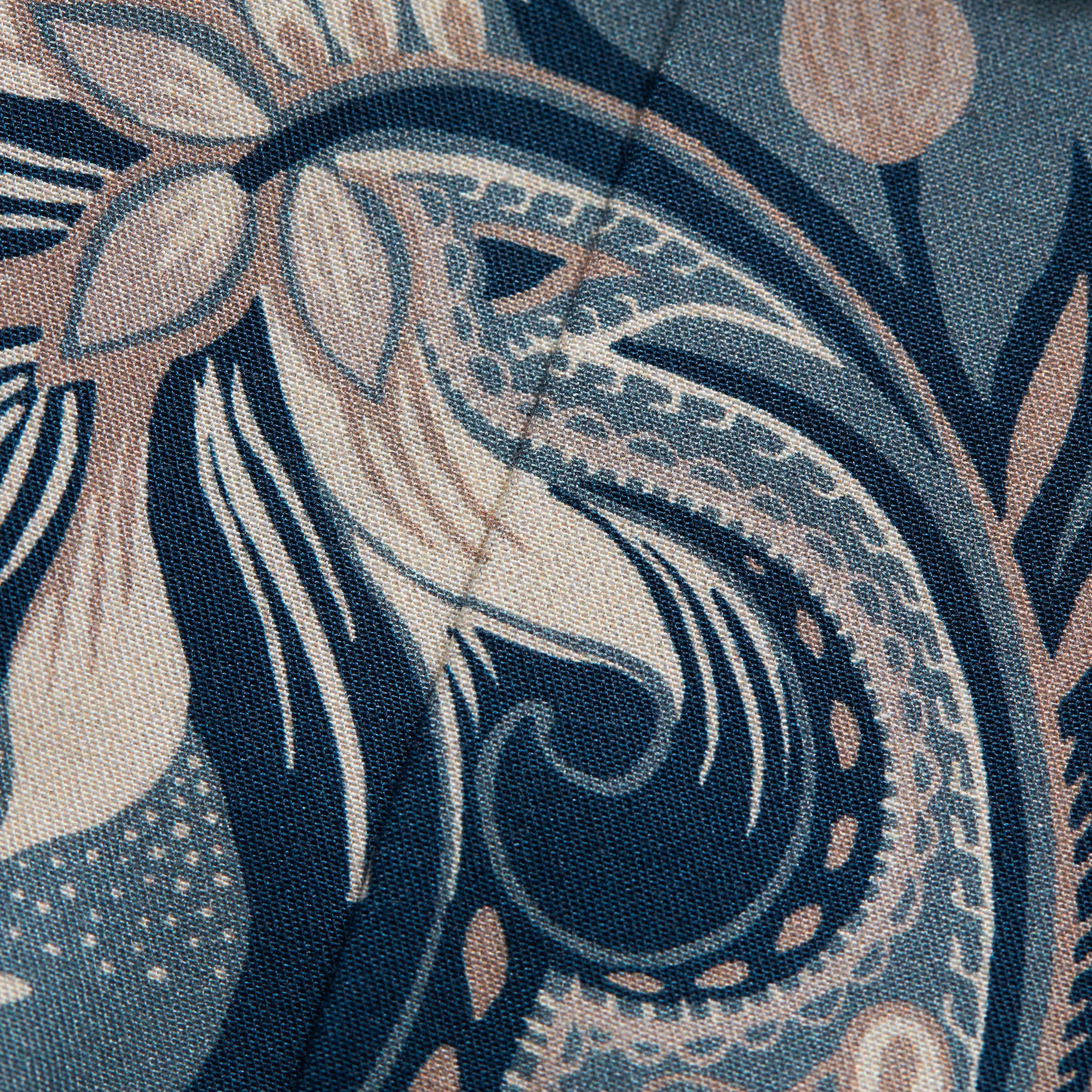 Eton Floral Motif on luxury Twill