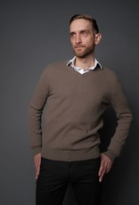 Wool & Mongolian Cashmere V Neck