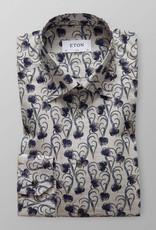 Eton Blue floral Motif Flannel