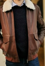Torras Tan Aviator Napa Leather Jacket