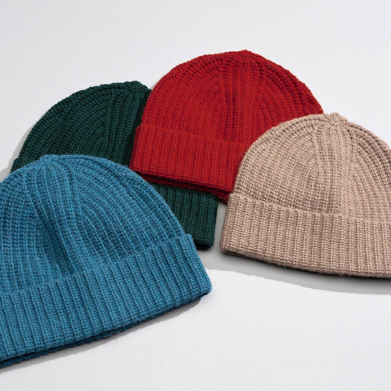 Eton Wool/Cashmere rib knit Beanie