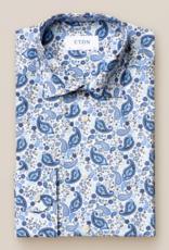 Eton Poplin with Bold Paisley Print