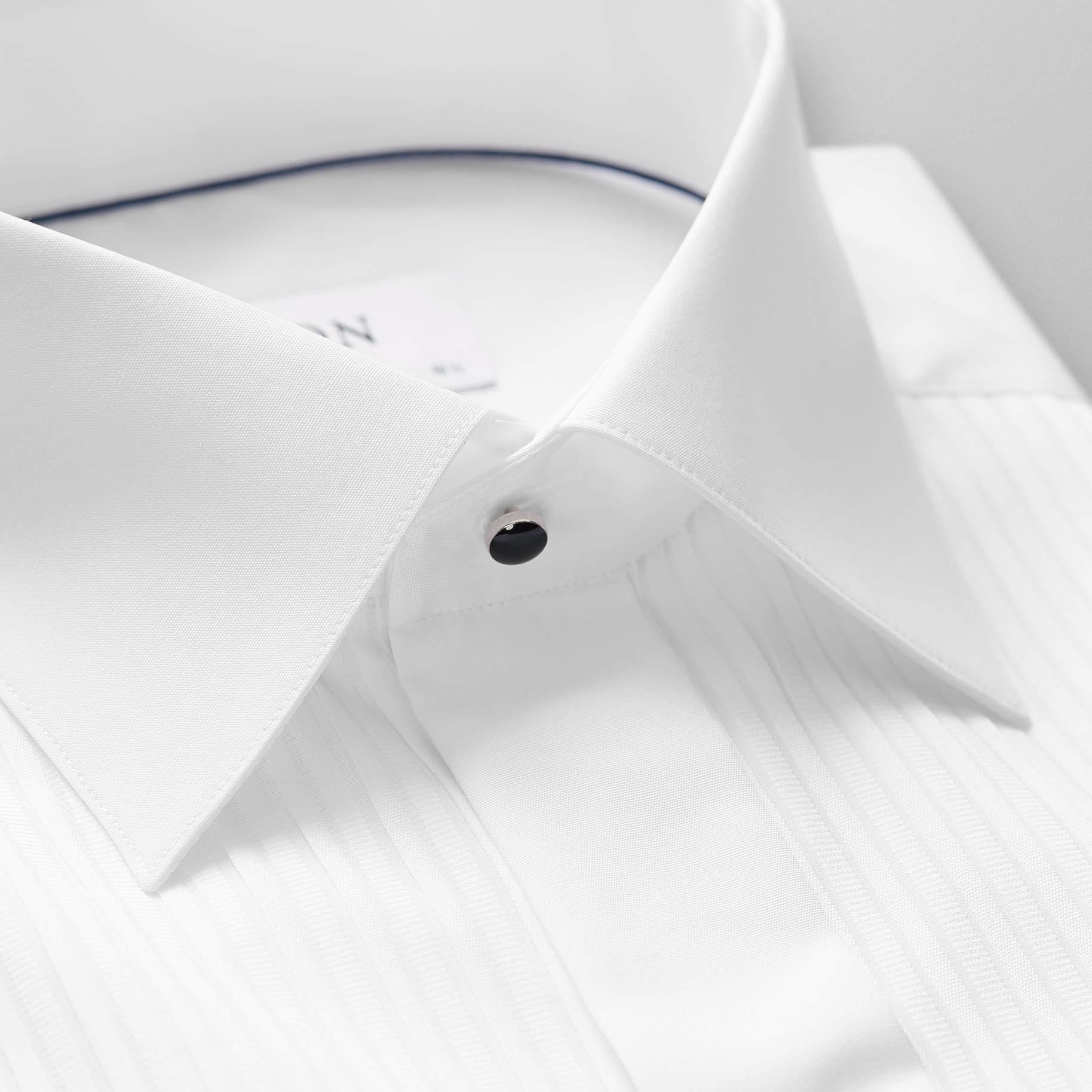 Eton Plisse Black Tie shirt