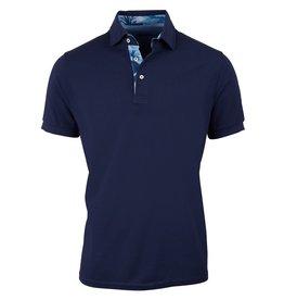 Stenstroms Polo shirt contrast navy