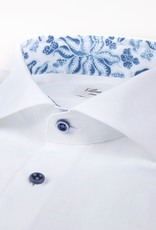Stenstroms White linen blue leaf trim