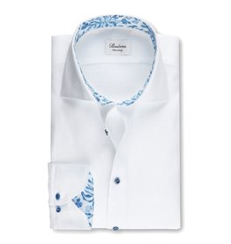 Stenstroms White linen blue leaf trim