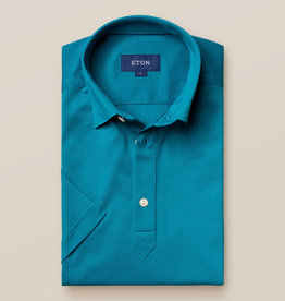 Eton Luxury Pique Button Under Polo Shirt