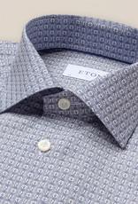 Eton Art deco logo print poplin shirt