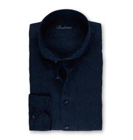 Stenstroms Dark blue linen button down