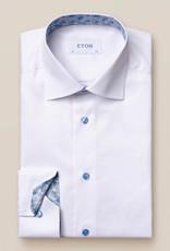 Eton White twill with Blue detail