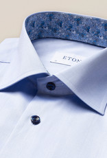 Eton Pale Blue twill with Blue detail