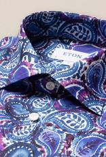 Eton Blue Painted Paisley