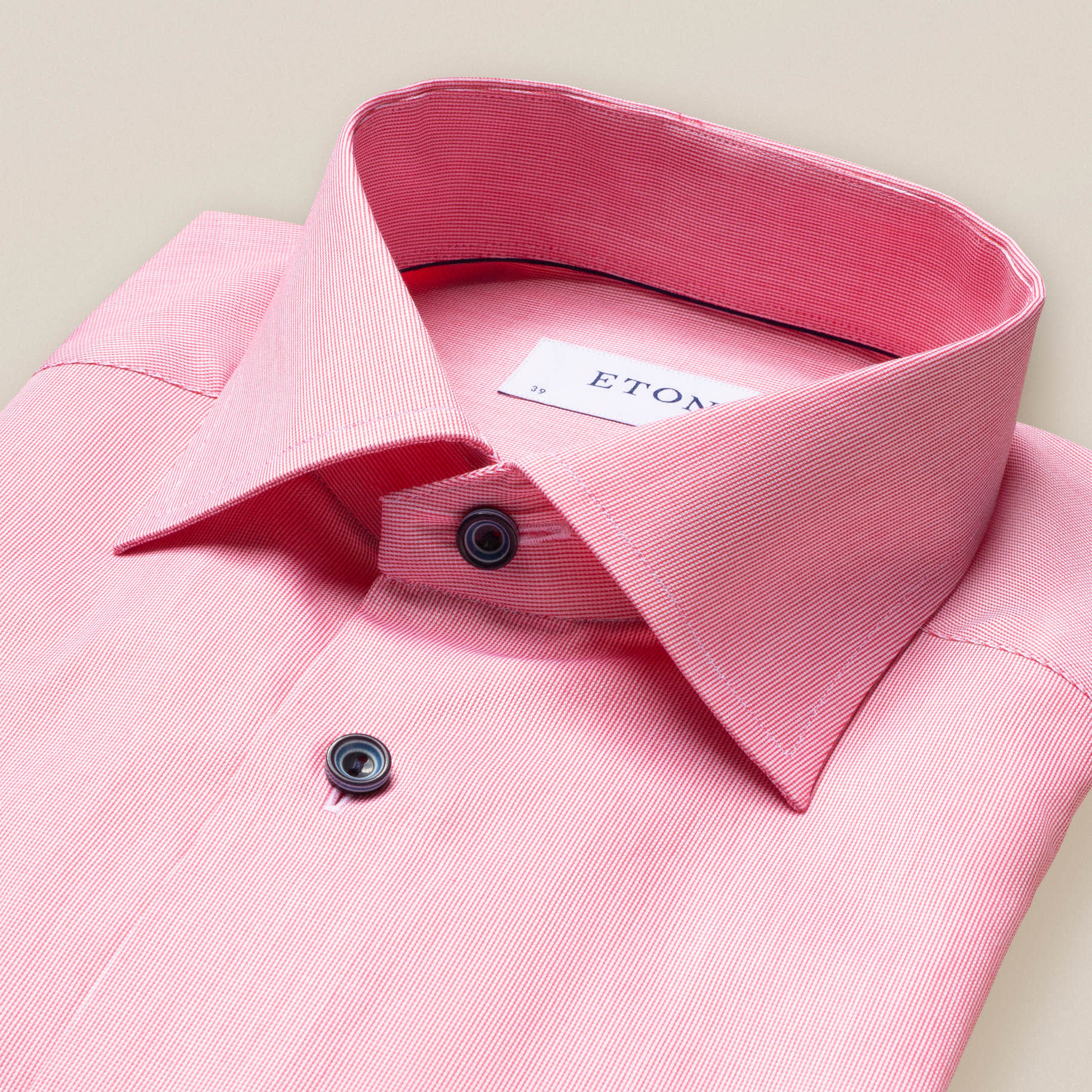 Eton Signature twill with Contrast button