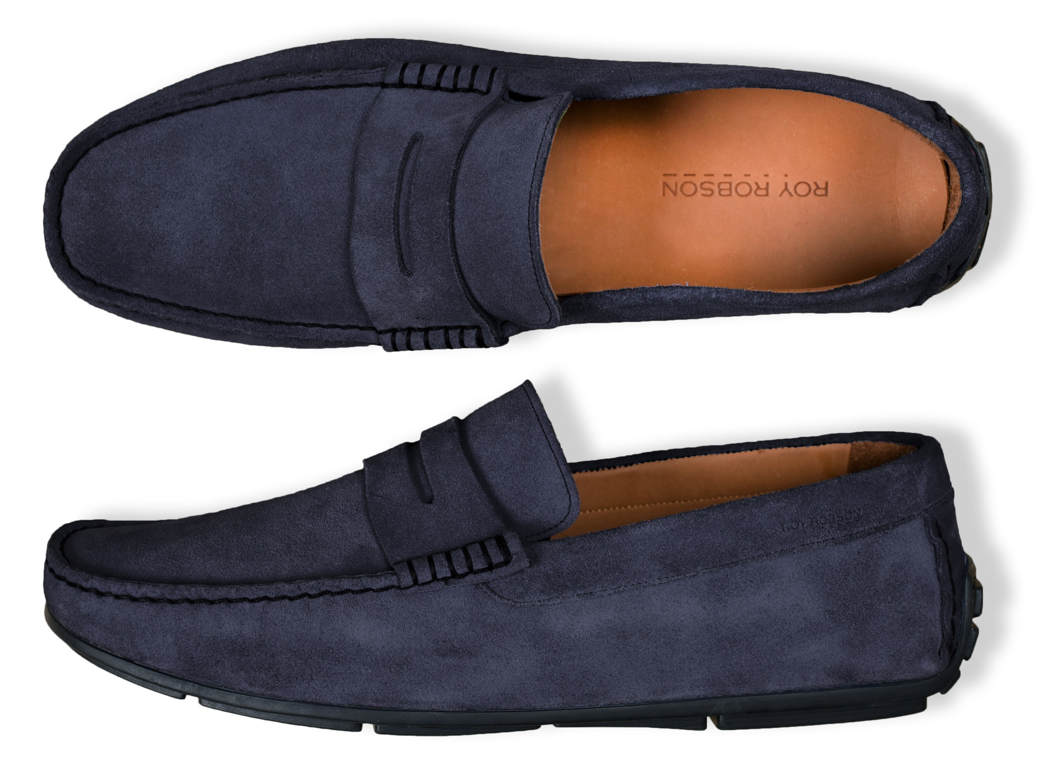 Roy Robson Robson navy moccasin