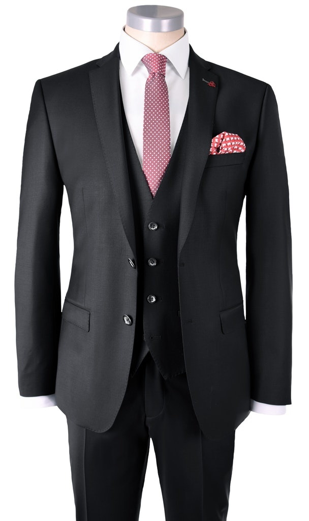 Roy Robson Slim Fit Stretch Wool 3 piece Suit