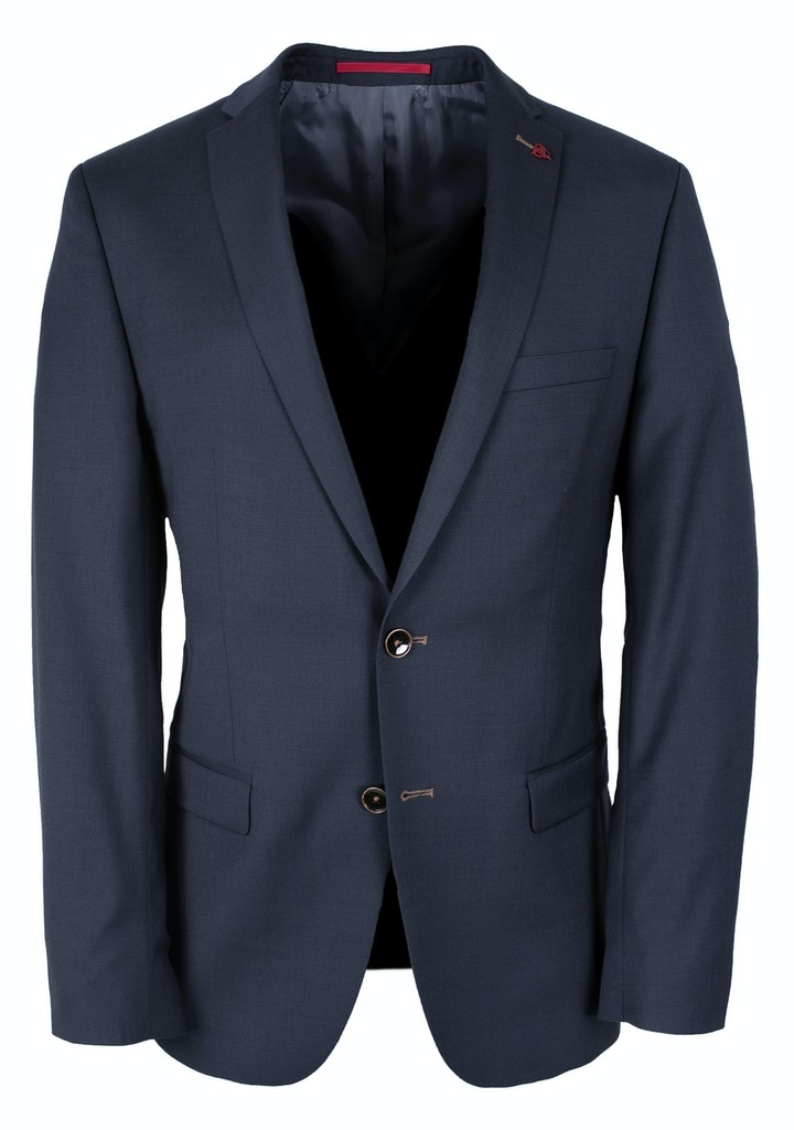 Roy Robson Super 100 Slim Fit Royal Blue