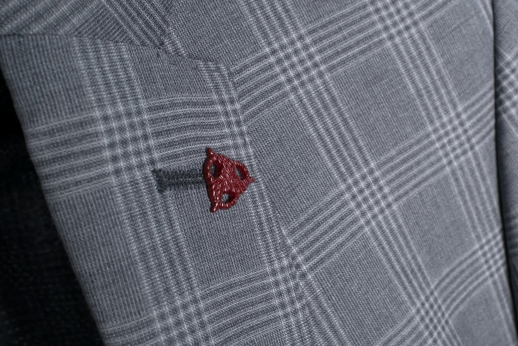 Roy Robson Light Charcoal Prince of Wales check suit