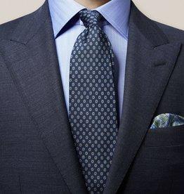 Eton Navy Geometric Tie