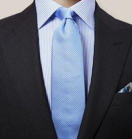Eton Blue Geometric Woven Silk Tie