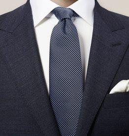 Eton Navy Geometric Woven Silk Tie