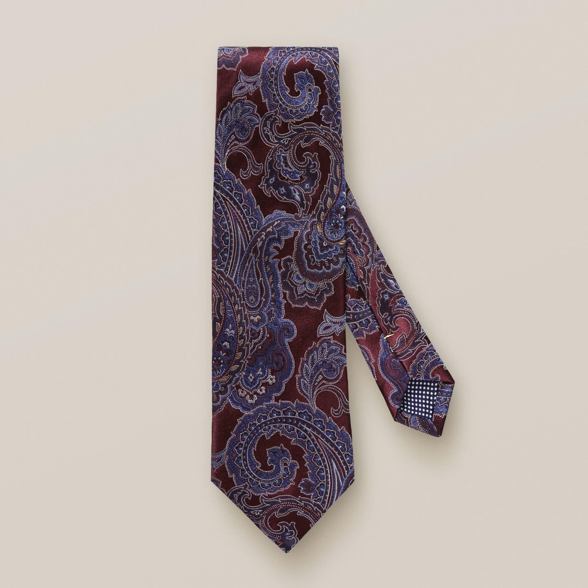 Eton Red Jacquard Paisley Tie