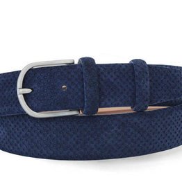 Robert Charles Perforated Blue Suede