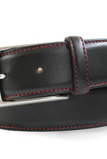 Robert Charles  Calf Skin Leather belt with Red stitching