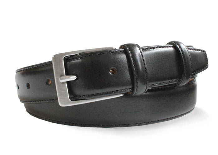 Robert Charles Black Leather Belt