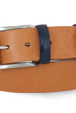 Robert Charles Tan Jean belt with patchwork loops