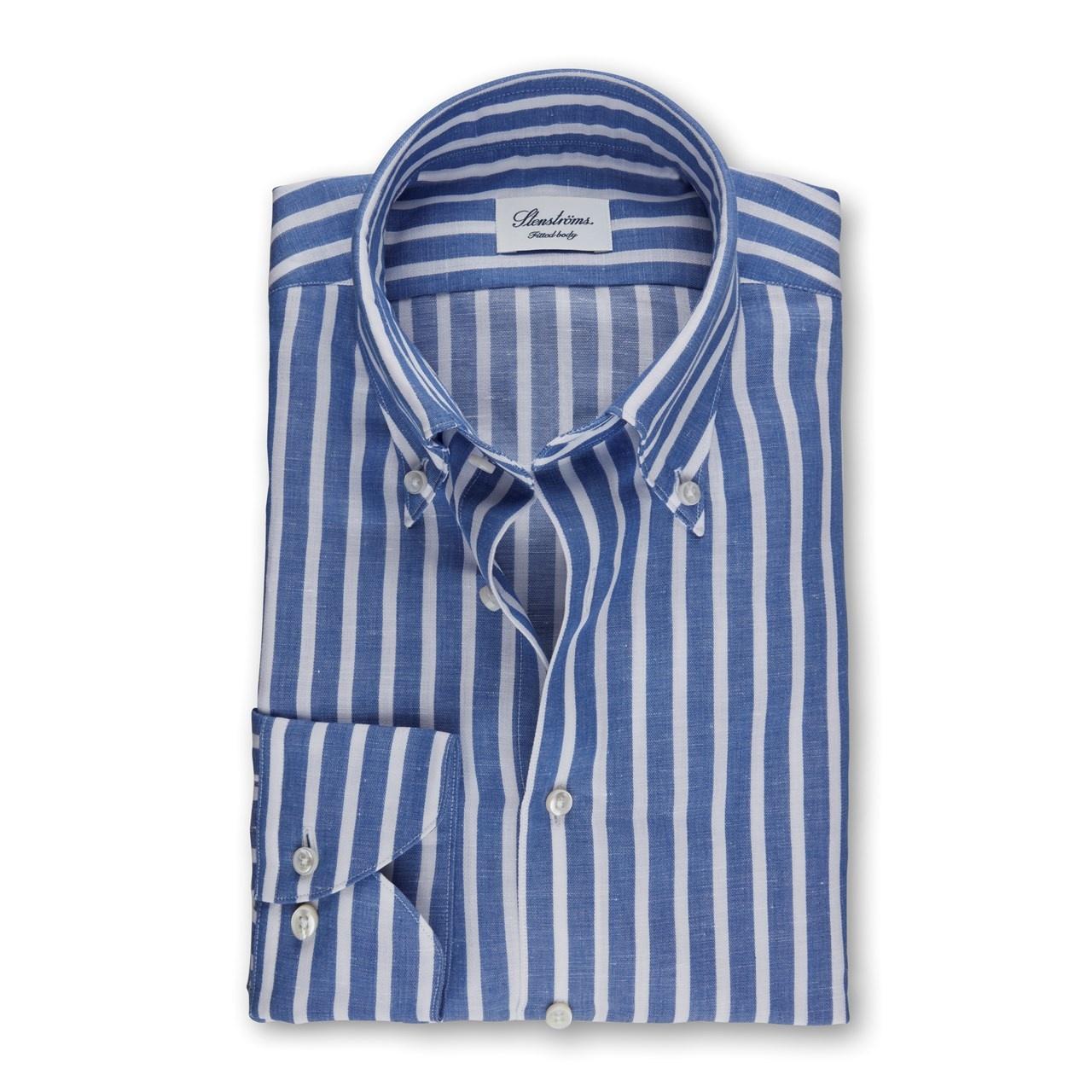 Stenstroms Candy stripe cotton/linen button down