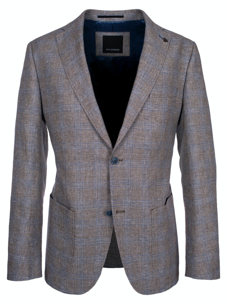 Roy Robson Grey jacket with blue check