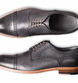 Roy Robson Charcoal Cap Toe Derby Shoe