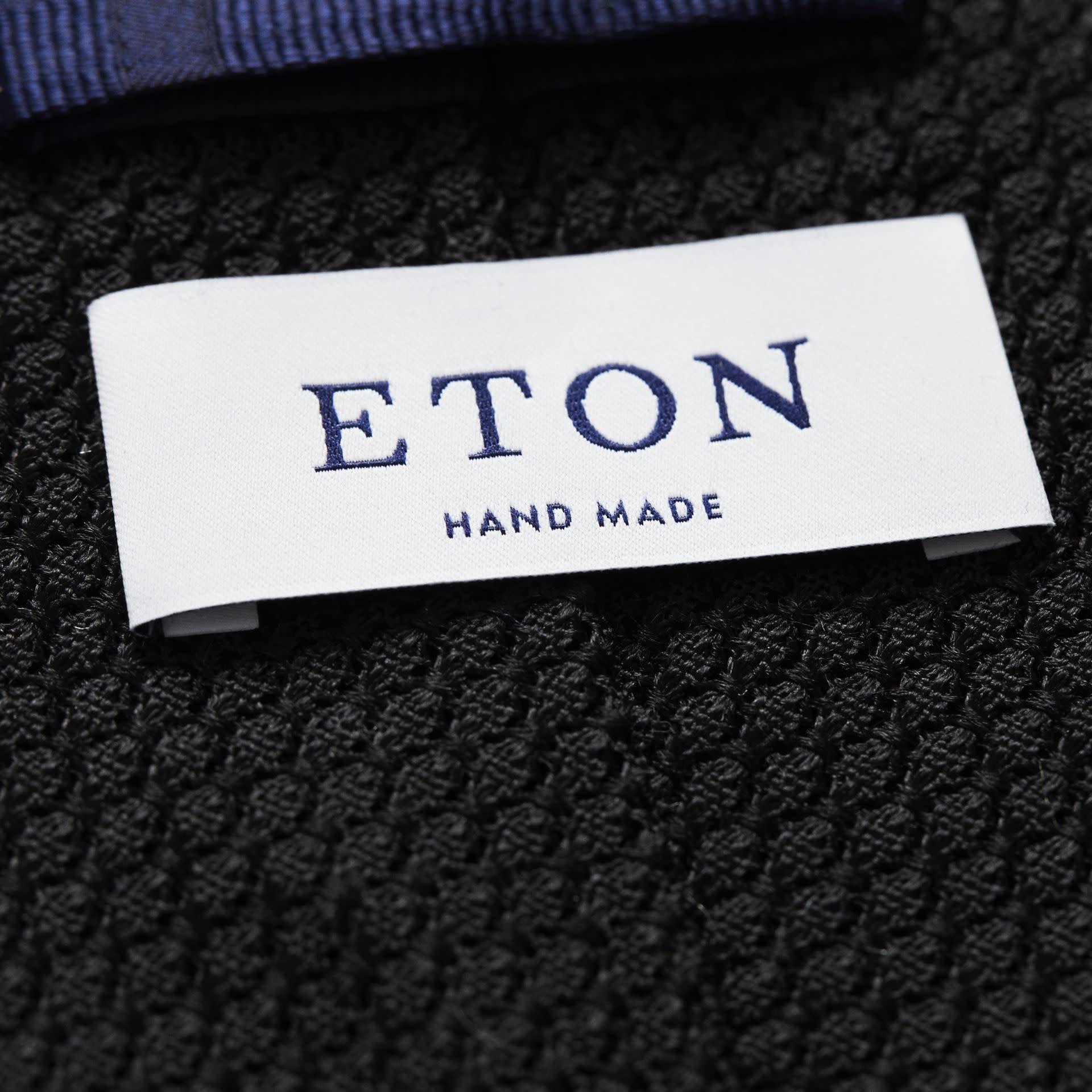 Eton Black Grenadine Tie