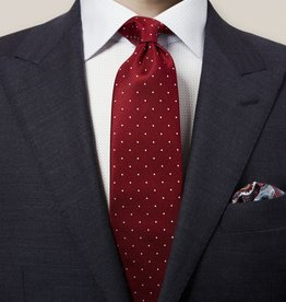 Eton Red Polka Dot Silk Tie
