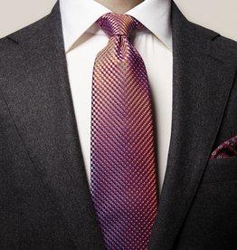 Eton Orange Geometric Silk Tie
