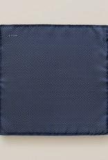 Eton Navy Polka dot silk Pocket Square