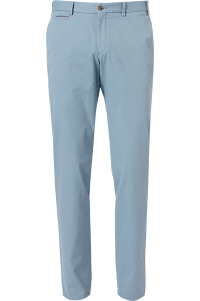 Hiltl Pale Blue Pima Chino with detail