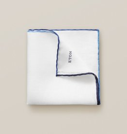Eton Blue Linen Pocket Square