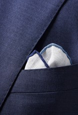 Eton Blue Linen Pocket Square