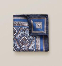 Eton Blue Paisley Pocket Square