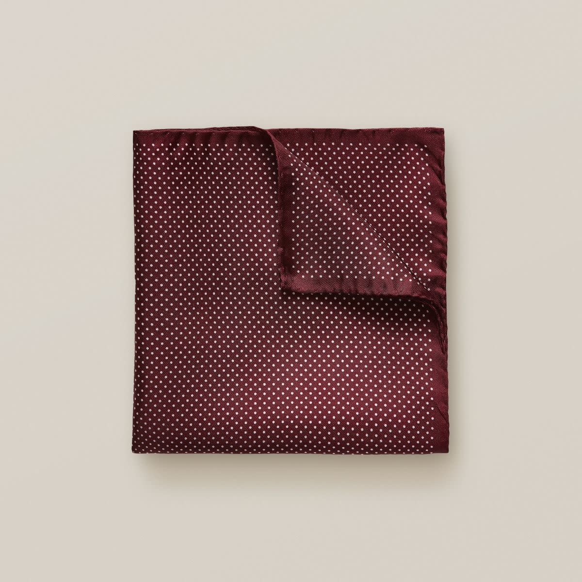 Eton Red Polka Dots Pocket Square