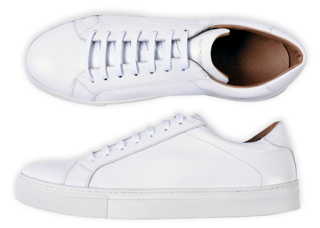 Roy Robson White Leather Trainer