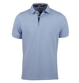 Stenstroms Polo shirt contrast pale blue