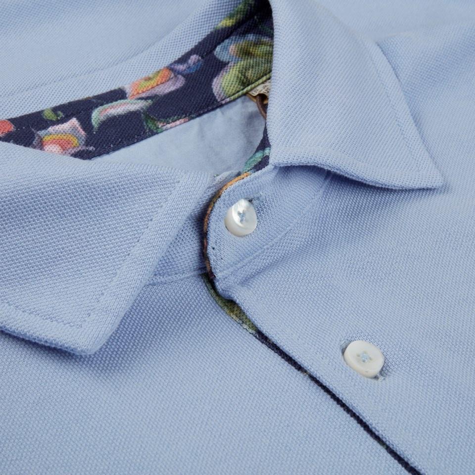 Stenstroms Polo shirt contrast pale blue