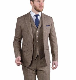 Torre Taupe Donegal tweed jacket